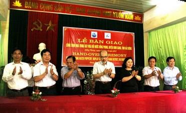 Lễ bàn giao công trình Nhà trưng bày múa rối nước Hồng Phong