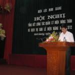 Điện Lực Ninh Giang:Tổ chức Hội nghị tổng kết công tác quản lý điện nông thôn và dịch vụ bán lẻ điện năng năm 2012.